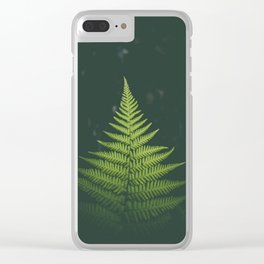 Fern Leaf Green Clear iPhone Case