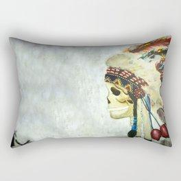 INDIAN WITH HEAD DRESS Rectangular Pillow