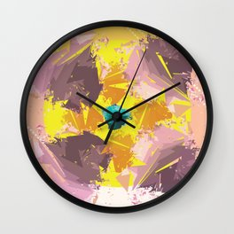 Colorful Abstract pattern design Wall Clock