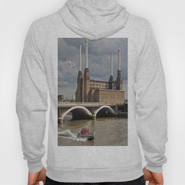 Battersea Power Station with Pink Floyd Pig Hoody