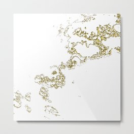 Golden Flow Metal Print