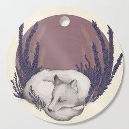 Fox & Lavender Cutting Board
