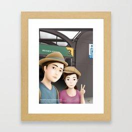 Backpack Sir Sir & Fern take a photo of Selfie at MRT Beimen Station Framed Art Print