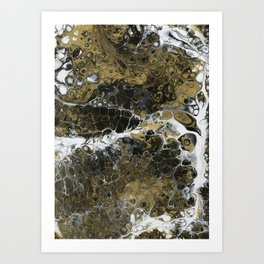 Team Splash, Black and Gold Art Print