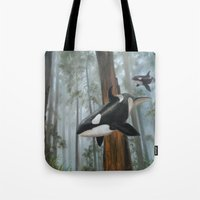 giants Tote Bags featuring Giants Among Giants by Jason Pierce