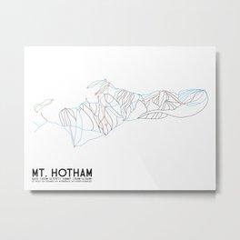 Mt. Hotham, Victoria, Australia - Minimalist Trail Art Metal Print