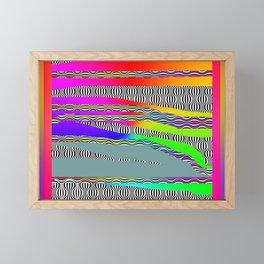 ABSTRACT BLACK WHITE COLOR Framed Mini Art Print
