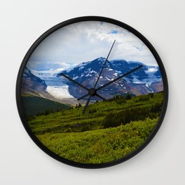 View along the Wilcox Pass Hike in Jasper National Park, Canada Wall Clock