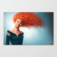 merida Canvas Prints featuring Merida by Strannaya Anna