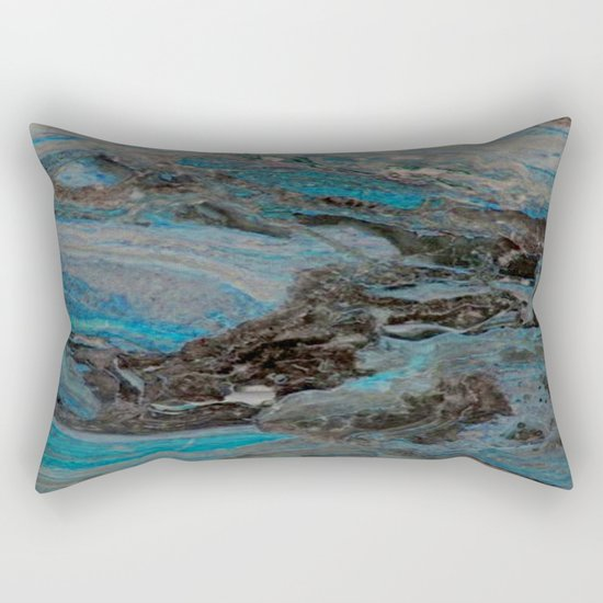 Marble, it is cool, aloof and especially elegant Rectangular Pillow