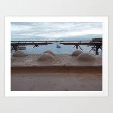 Brooklyn Bridge, New York City, Structural Architecture, Rivets Art Print