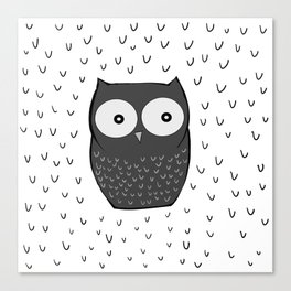 Floating Owl Canvas Print