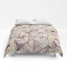 Vintage Marble Art Deco Pattern Comforters