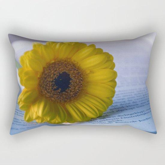 Yellow Gerbera Daisy Rectangular Pillow