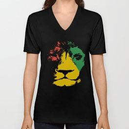 Jamaica Lion Mens Reggae Jamaican Bob Music Jamaica T-Shirts Unisex V-Neck