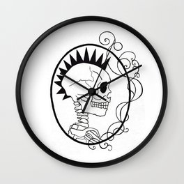 Skull Punk Portrait Wall Clock