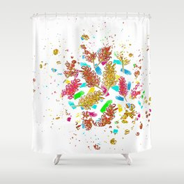 Australian Native Florals - Graphic Shower Curtain