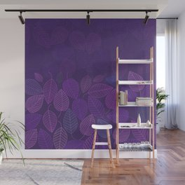 LEAVES ENSEMBLE ULTRA VIOLET Wall Mural