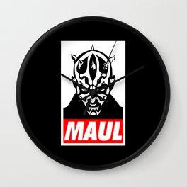 Obey Darth Maul (maul text version) - Star Wars Wall Clock