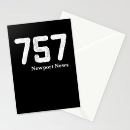 Area Code 757 Newport News Virginia Stationery Cards