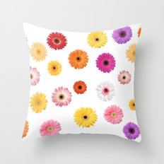 Gerberas Throw Pillow