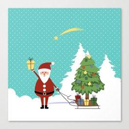 Santa Claus and gifts Canvas Print