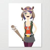 tank girl Canvas Prints featuring Tank girl by Maria Jose Da Luz