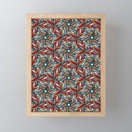 Boho leaves vector all over print. Framed Mini Art Print