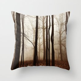Depth in the Forest Throw Pillow