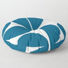 Mid Century Modern Blue Square Floor Pillow