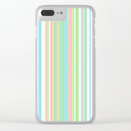 Stripe obsession color mode #2 Clear iPhone Case