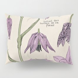 Maurice Verneuil - Fritillaire - botanical poster Pillow Sham
