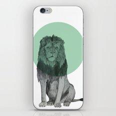 sitting lion iPhone Skin