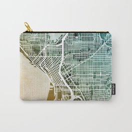 Seattle Washington Street Map Carry-All Pouch