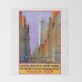 New York, vintage poster Throw Blanket