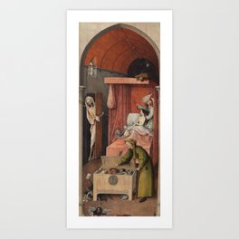Hieronymus Bosch - Death And The Miser. Art Print