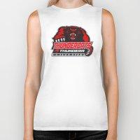 thundercats Biker Tanks featuring  thundera university by Buby87