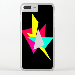 Colour Shards 02 Clear iPhone Case