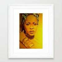 erykah badu Framed Art Prints featuring Erykah badu by Dezz Manuel