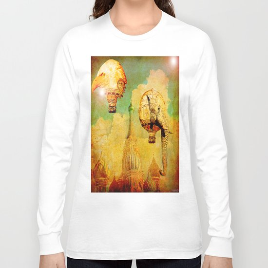 Hot-air balloons animal in Moscow Long Sleeve T-shirt