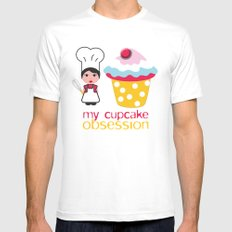Cupcake obsession Mens Fitted Tee White MEDIUM
