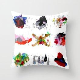 9 abstract rituals Throw Pillow