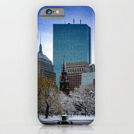Winter in Boston iPhone Case