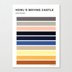 The colors of - Howl's moving castle Canvas Print