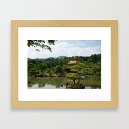 The Golden Pavilion in July Framed Art Print