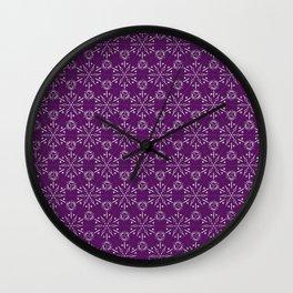 Hexagonal Circles - Elderberry Wall Clock