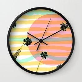 Palm Tree Vibes & Sunburnt Minds Wall Clock