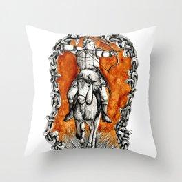 The fair huntsman Throw Pillow