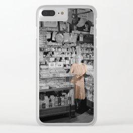 Vintage Drug Store Clear iPhone Case