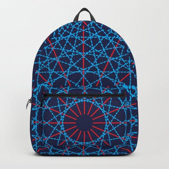 Geometric Circle Blue/Red Backpack